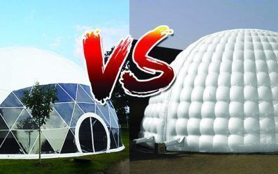 Domo Geodésico vs Domo Hinchable