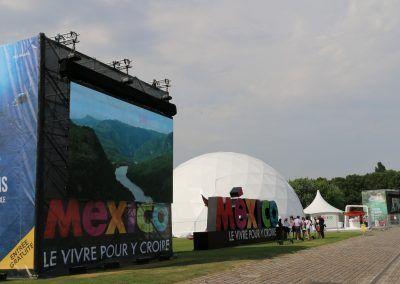 G500 Geodomes descubre la cara moderna de México en el Parc de la Villette.
