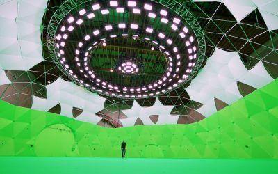 El mayor set 360º para películas del mundo es un enorme Domo Geodésico